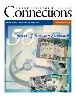Cover of the spring 2012 issue of Clark College Connections