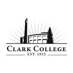 Clark College logo -- black and white version