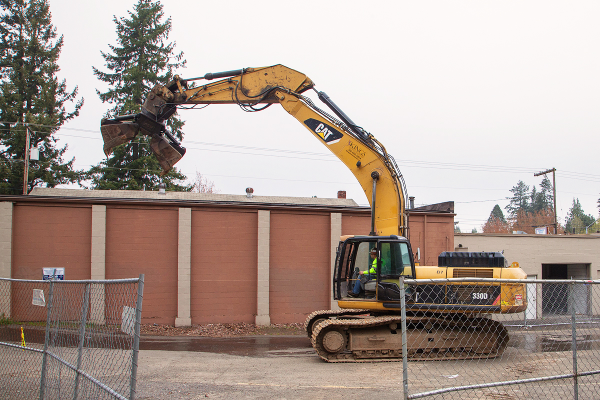 Demolition begins on corner of Fourth Plain and Ft. Vancouver Way