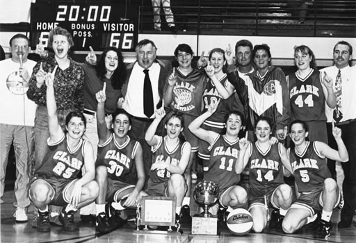 92-93 Women's Basketball Team