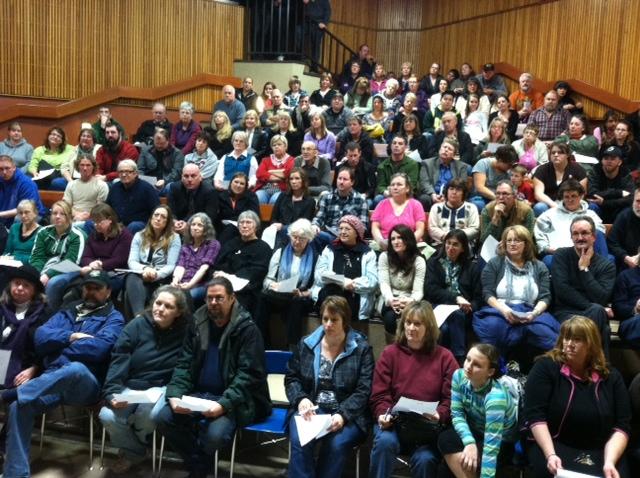Clark College public meeting in Carson, WA