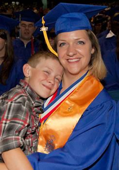 Presidential Scholarship Recipient Tami Eldridge and her son