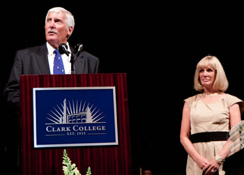 Bill and Jeanne Firstenburg at Clark College Commencement 2012