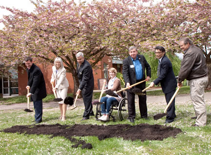 2010 groundbreaking for the Japanese Friendship Garden