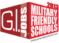2013 Military Friendly Schools logo