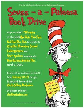 Seuss-a-Palooza Book Drive Poster