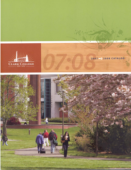 Cover of 2007-2008 Clark College Catalog