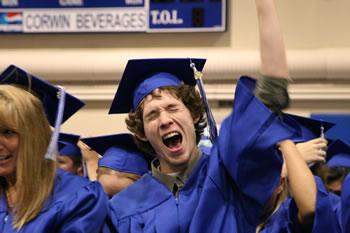 2008 GED graduate cheers