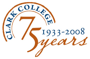 Clark College 75th anniversary logo