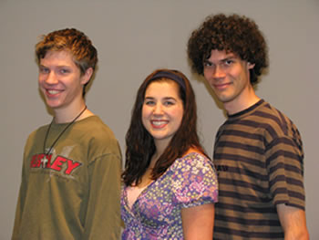 Clark College students Daniel Warner, Dana Smith and Bruce Kyte earned honors in the 2008 regional competition of the National Association of Teachers of Singing (NATS).