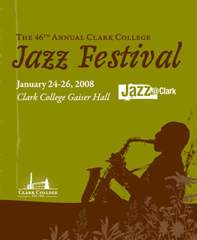 Poster for 2008 Clark College Jazz Festival