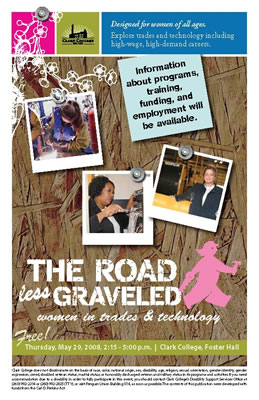 Road Less Graveled event postcard