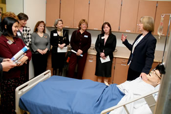 Nursing program and simulated technology demonstration