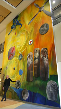 """Flight of the Mind, Exploration of the Heart"" mural"