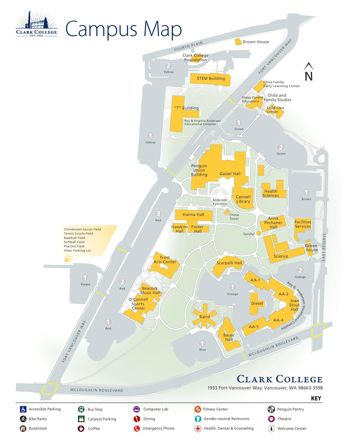 Clark College Map Campus Map