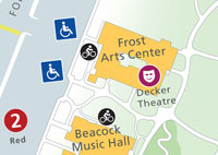 Decker Theatre location map