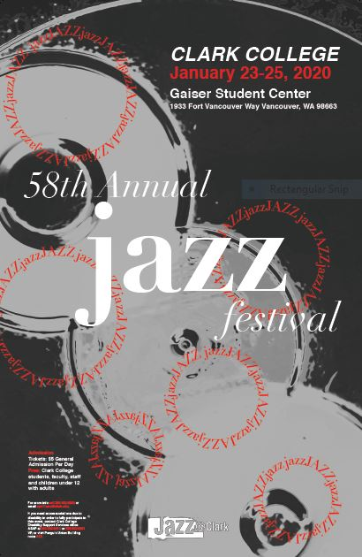 Poster for the  Clark College Jazz Festival