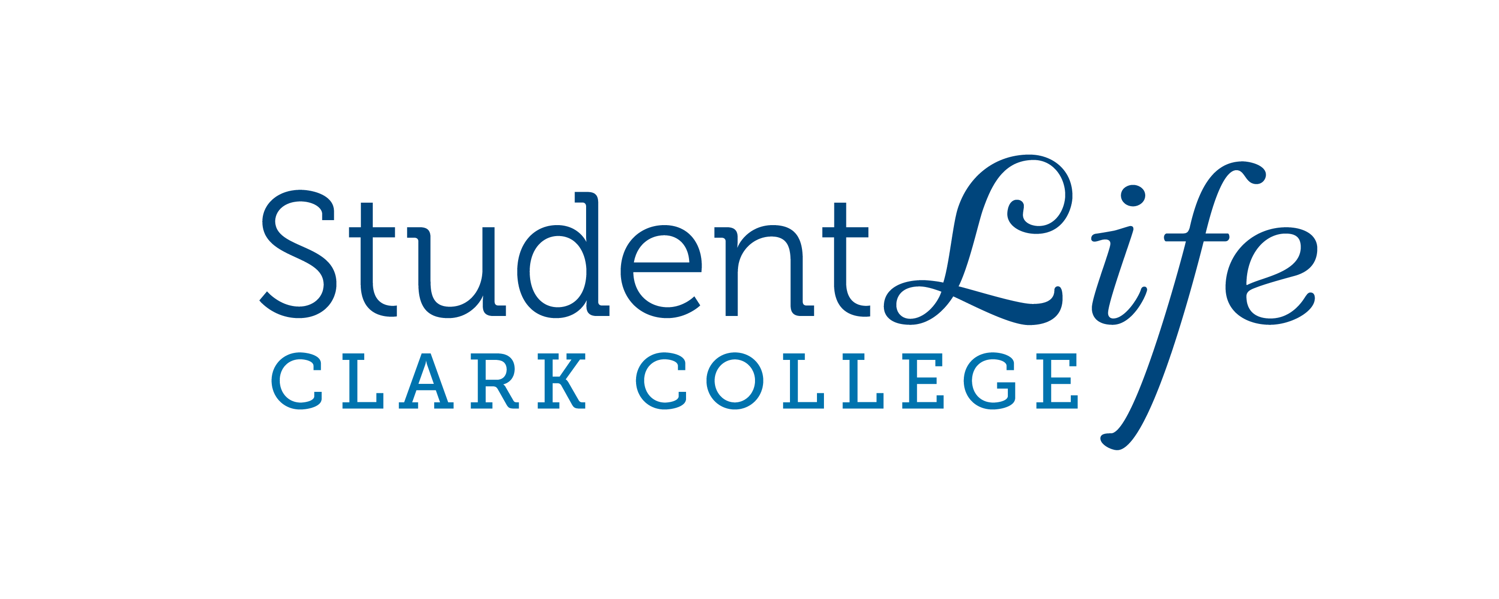 Student Life logo, in one-color white, with Oswald the Penguin.