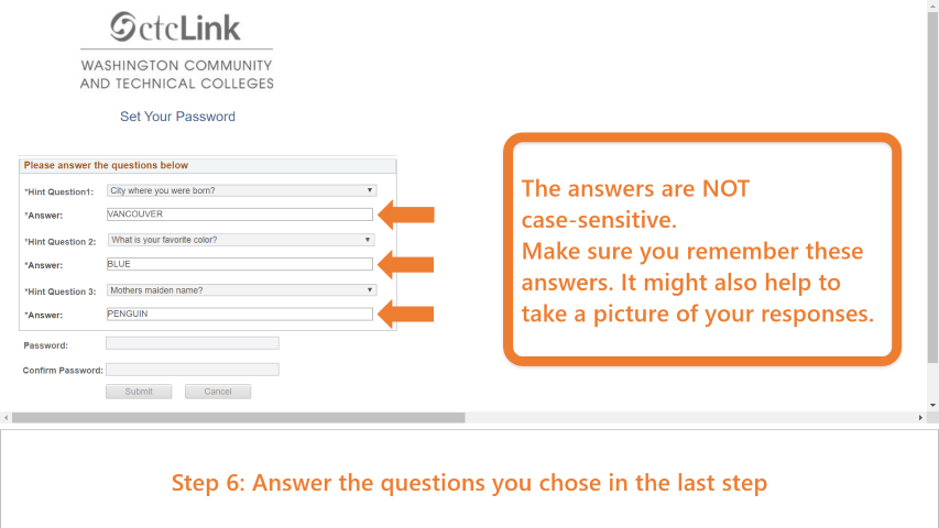 Step 6: Answer the questions you  chose in the previous step.