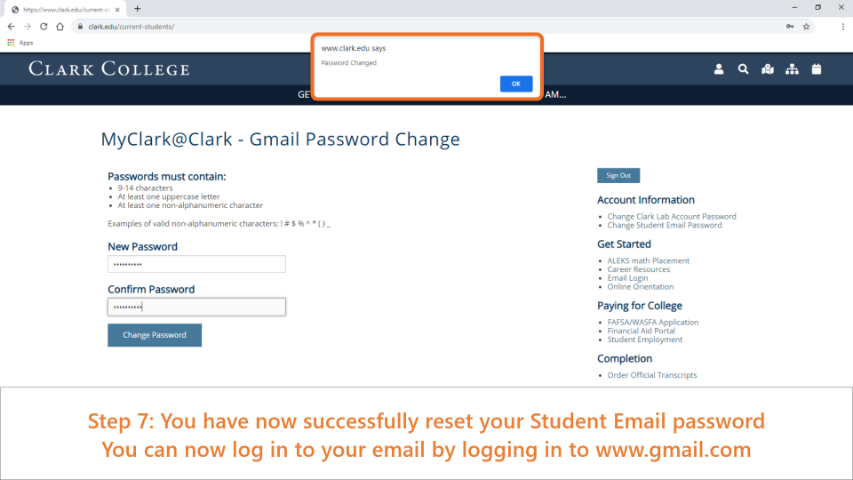 Once finished, you can now use your email and password to log in to www.gmail.com and get to your student emails.