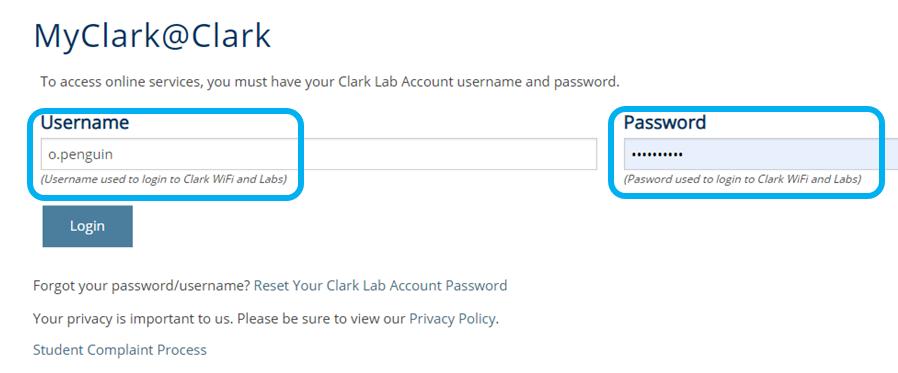 MyClark@Clark login