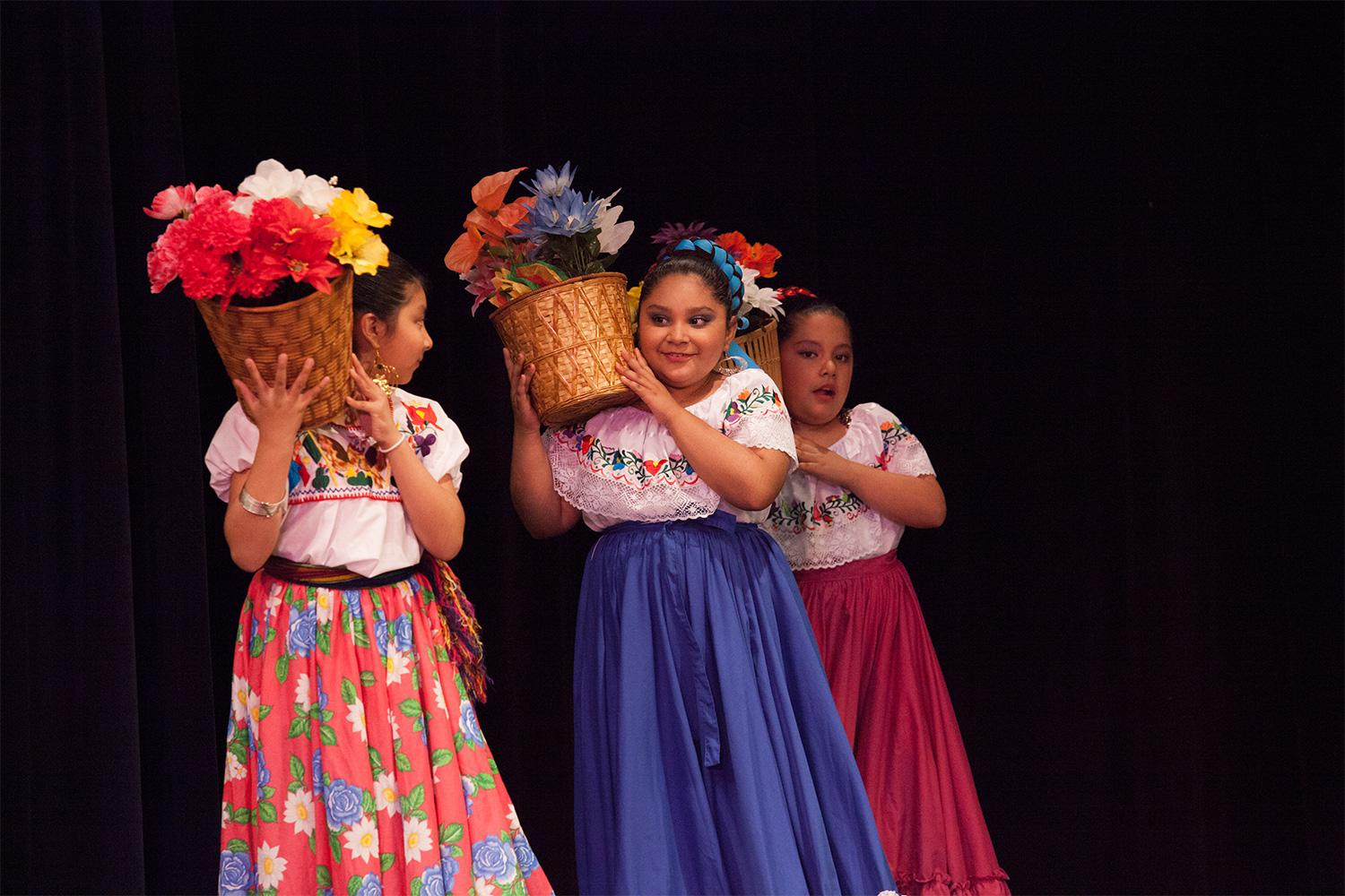 Young dancers preform at the Latino Celebration