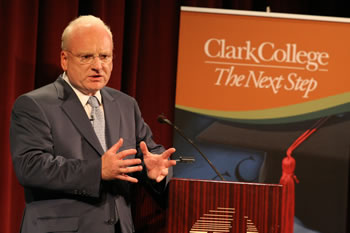 Distinguished Lecturer Richard Clarke speaks at Clark College