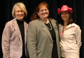 Left to right:  Gail Liberman, Laurie Brown and Veronica Brock