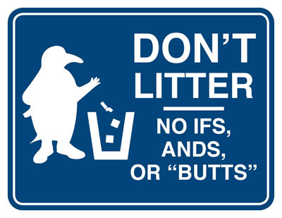 Anti-littering poster