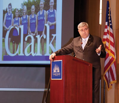 President Bob Knight delivers the 2011 State of the College address