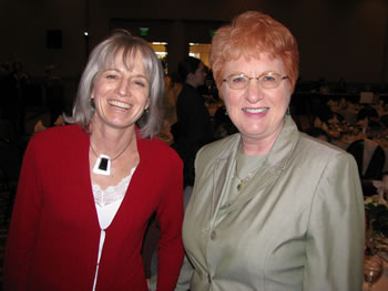 Clark trustees Addison Jacobs and Sherry Parker were among the guests at the 2008 Women of Achievement celebration.