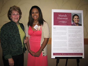 Running Start student Mariah Hairston is congratulated for being named a Young Woman of Achievement