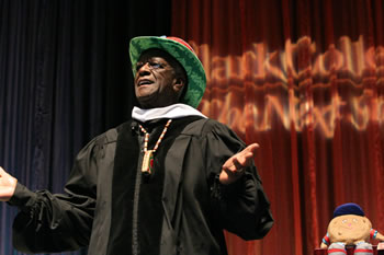 "Commencement keynote speaker Wally ""Famous Amos"" Amos"