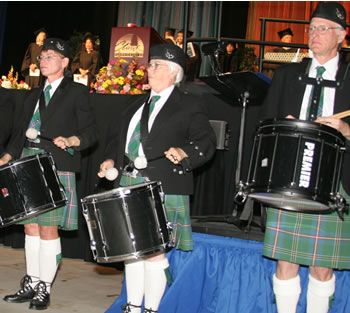 Fort Vancouver Pipe Band performs