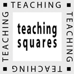 teaching squares graphic: square, with the words teching squares around it